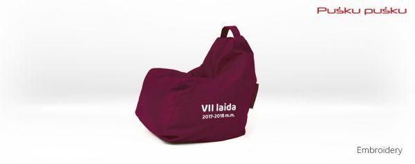 Siuvinėjimas ant sėdmaišio MOKSLEIVIŲ LAIDA